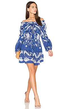 Cant Do Without You Mini Dress in Cobalt Bloom