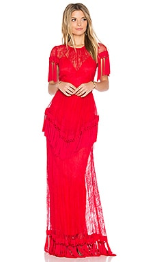 Lady Gown in Red