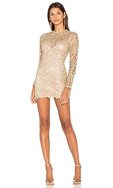 Pablo Mini Dress in Gold