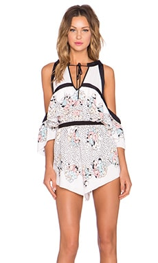 Alice McCall Nothing Compares Playsuit in Spotted Floral