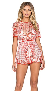 Space is Only Noise Romper in Red