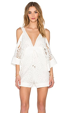 Alice McCall Keep Me There Romper in White