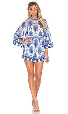 Young Hearts Run Free Romper en Bleu
