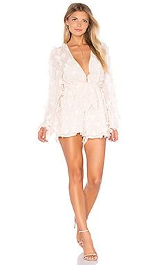 Alice McCall Wild Flowers Romper in Shell Pink