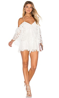 Lucy In The Sky Romper in White