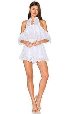 White Room Romper in White
