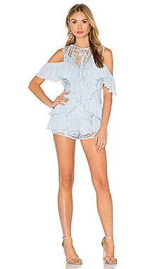 You're Young So Have Fun Girl Playsuit in Ice Blue