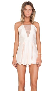 Alice McCall On The Contrary Playsuit in Blush