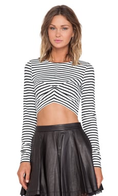 Alice McCall Lime Tonic Crop Top in Stripe