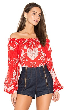 My Sweet Lord Blouse in Scarlet Bloom