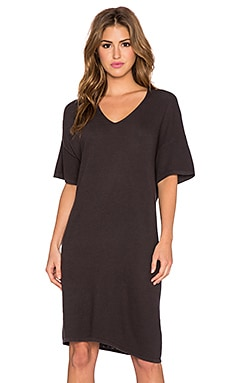 American Vintage Laki Haven T-Shirt Dress in Carbon