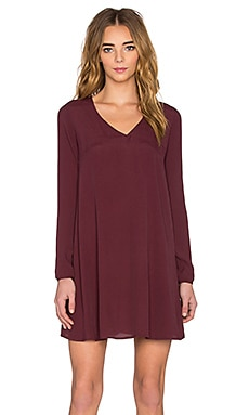 Abysville Dress in Burgundy