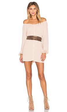 Abysville Long Sleeve Tunic Dress in Salmon