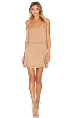 American Vintage Meadow V Neck Dress in Coffee Ice Cream