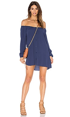 Abysville Long Sleeve Tunic Dress en Azur
