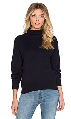 American Vintage Apyroad Turtleneck Sweater in Navy