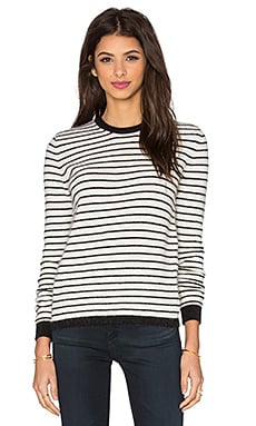 American Vintage Spartow Sweater in Pearl Striped Black