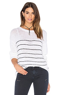 Umatilla Sweater in White Striped Carbon
