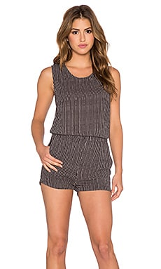 American Vintage Tulsa Stripe Romper in Moon Cabourg