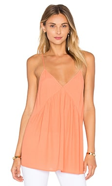 Abysville V Neck Tank in Salmon
