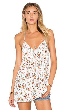 Alys V Neck Tank en Strawberry Dove