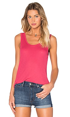 Beostone Scoop Neck Tank in Hibiscus