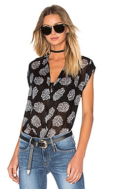 Fimtown Button Down Tank in Black Bandana