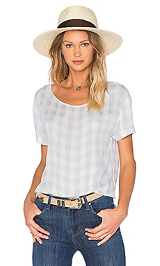 American Vintage Galione Top in Shark Gingham