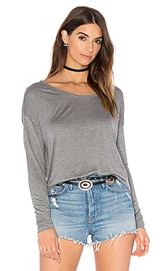 American Vintage Vixynut Long Sleeve Top in Heather Grey