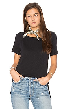 Bikistate Slit Tee in Black