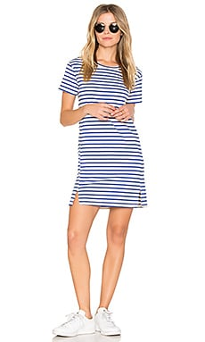 Twist Dress in Blue Sailor Stripe