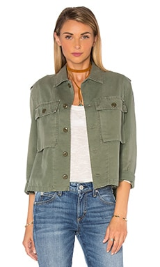 Army Shirt Jacket in Washed Army