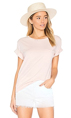 Tomboy Destroyed Pocket Tee in Blush