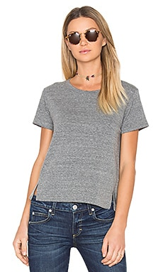 Twist Tee en Gris Chiné