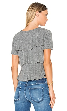 Ruffle Tee in Heather Grey