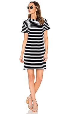 Blake Dress in Navy & Ivory Stripe