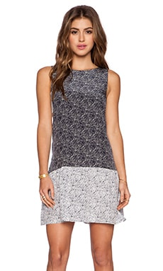 amour vert Meryl Tank Dress in Mosaic Navy & Mosaic White