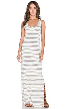 amour vert Zea Maxi Dress in Rainbow Stripe