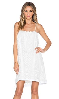 amour vert Carlyle Dress in White Burnout