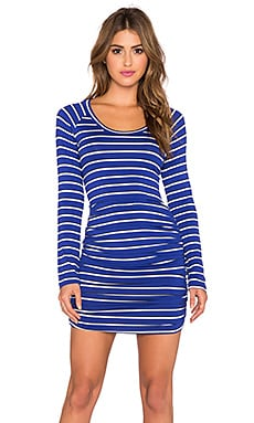 amour vert Gabriella Long Sleeve Dress in London Stripe