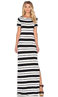 amour vert Theadora Stripe Maxi Dress in Brussels Stripe