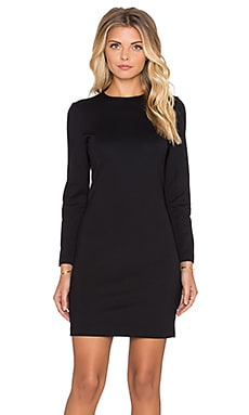amour vert Tabitha Long Sleeve Ponte Dress in Black