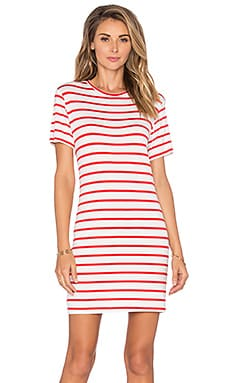 amour vert Brigette Tee Dress in Pop Stripe
