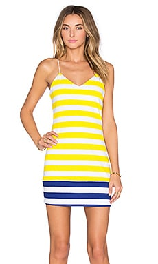Chastity Mini Dress en Yellow Stripe