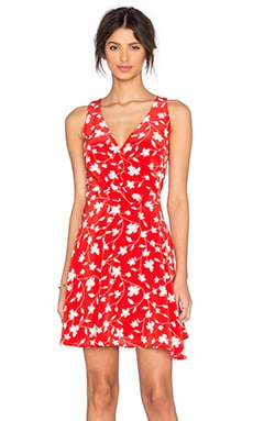 Brandy Wrap Dress en Pop Flower