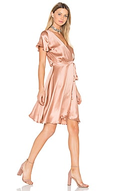 Lynn Wrap Dress in Rose Gold