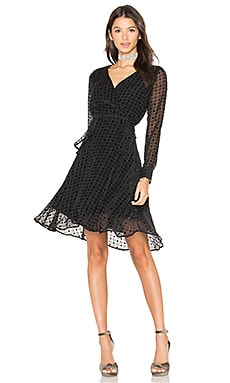 Dalton Wrap Dress in Velvet Dot