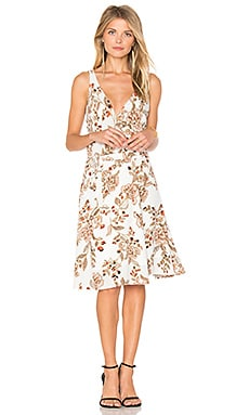 Brandy Wrap Dress in Ivory Flower Print