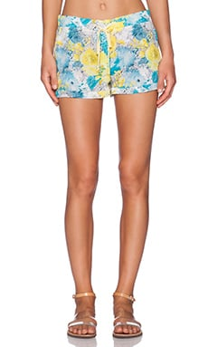 amour vert Cori Short in Yellow Floral Print