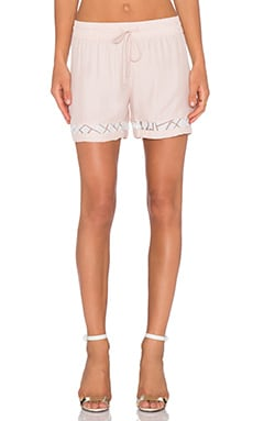 amour vert Malia Short in Pale Pink & White Burnout